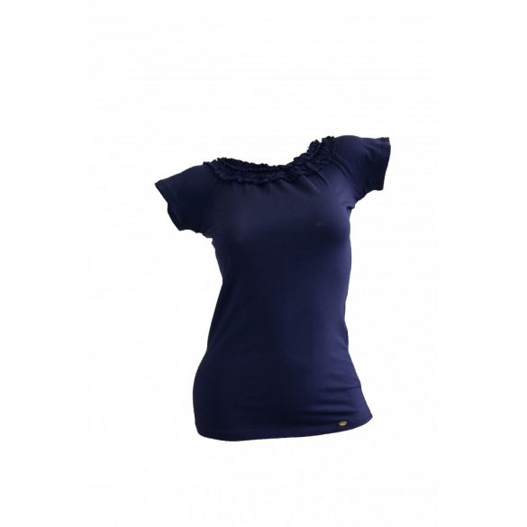 Pamut póló fodros nyakkal (#1)