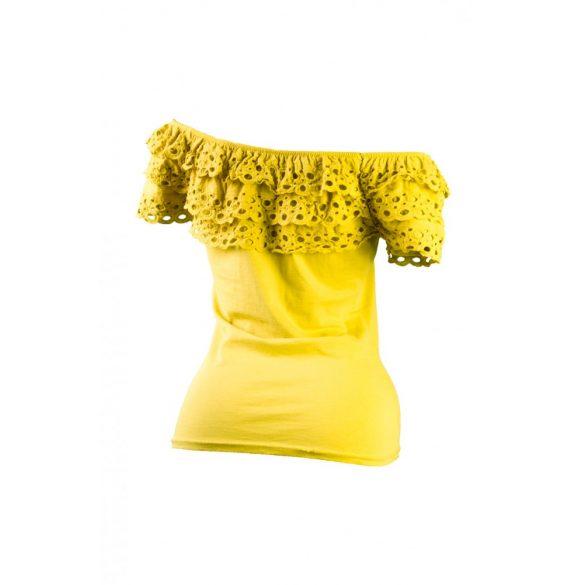 Fodros vállú póló (#7)