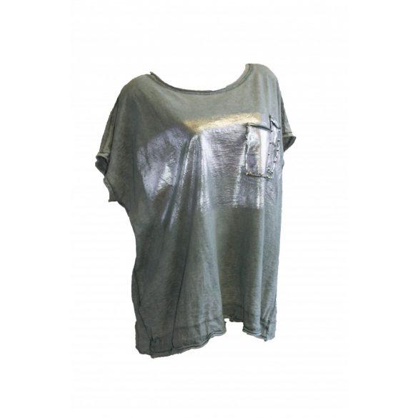 Oldalt zsinóros ezüst színű mintával (#6)