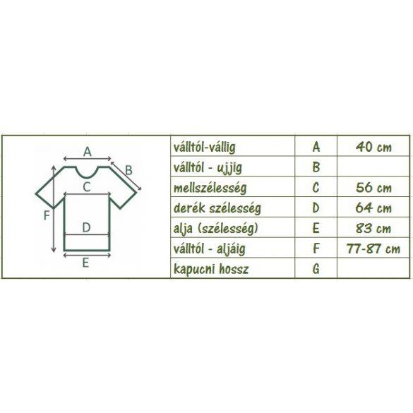 A vonalú nagy virágmintás zsebes póló (#8)
