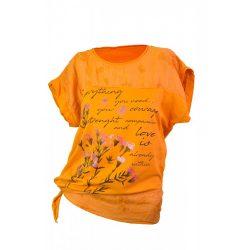 Oldalt kötős virág mintás póló (#7)