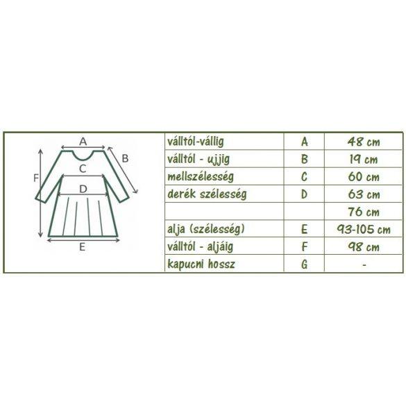 Pamut virágmintás zsebes tunika (#19)