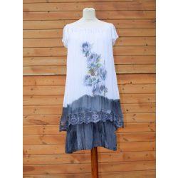 Selyem ruha nyomott virág mintával (#18)