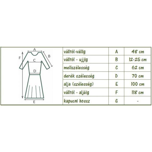 Elöl gombos ruha pöttyökkel (#25)