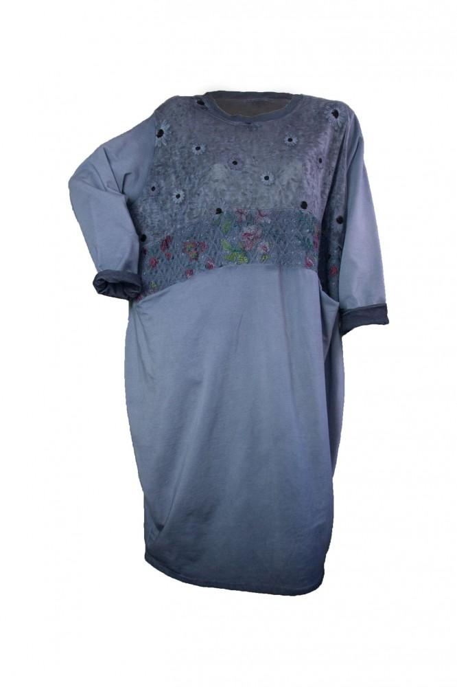 225e9458d4 Pamut ruha, hímzett tüll betéttel (#6) - Olivashop ruha webáruház ...