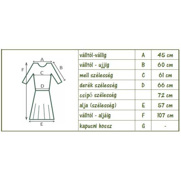 Pamut ruha, hímzett tüll betéttel (zöld)  (#6)