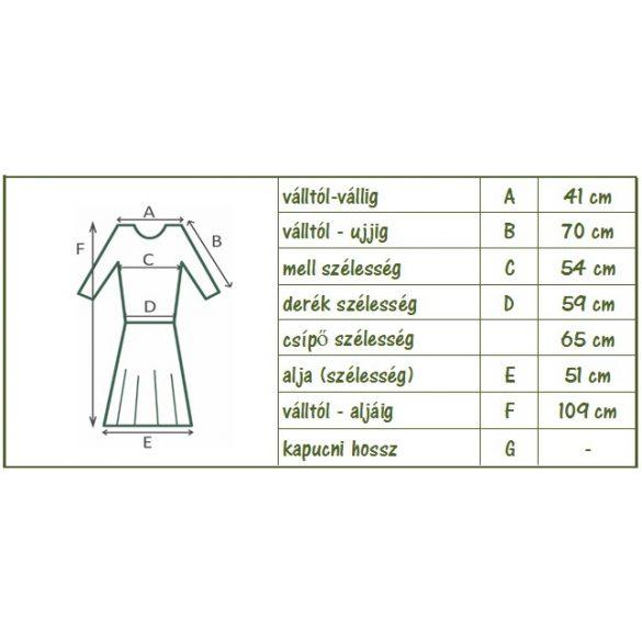 Kötött-pamut tüll betétes virágos ruha (#5)