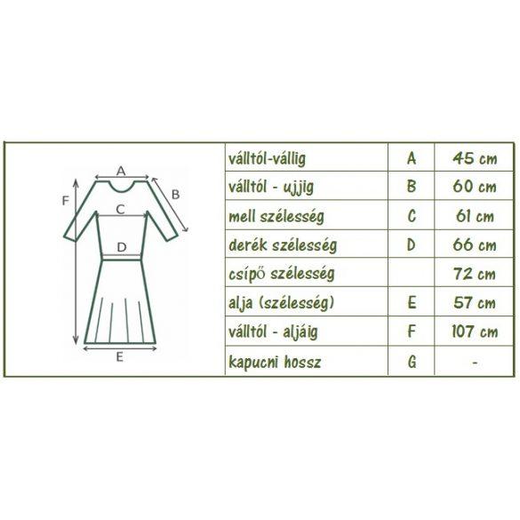 Pamut ruha, hímzett tüll betéttel (#6)