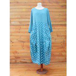 Pamut vászon pöttyös hordó fazonú ruha (#13)