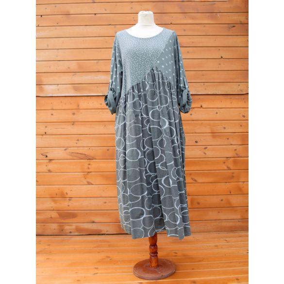 Pamut vászon pöttyös ruha (#14)