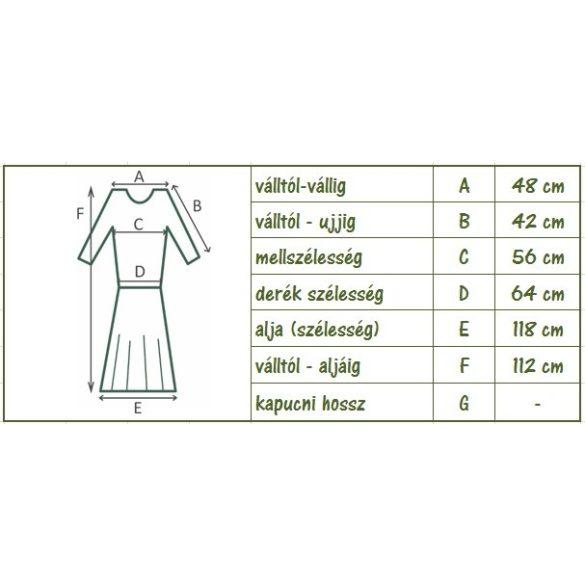 Szellős pamut ruha kendővel (#23)