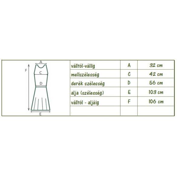 Virágmintás ruha horgolt mellrésszel (#15)