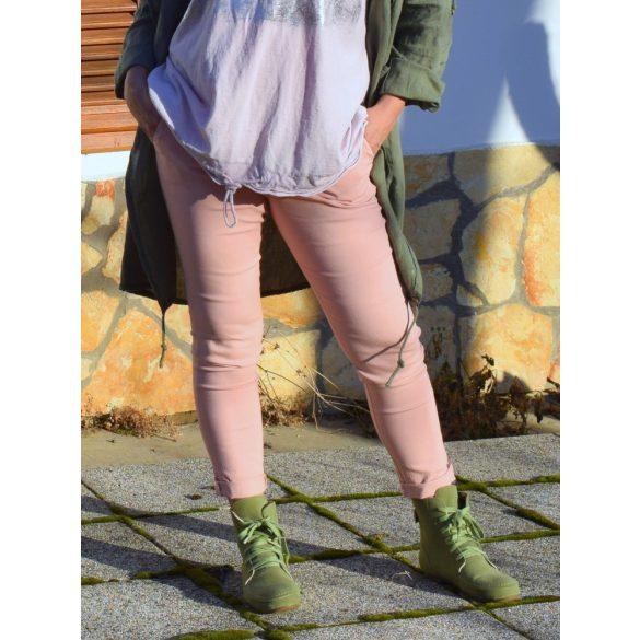 Divatos nadrág övvel (rózsaszín) (#5)