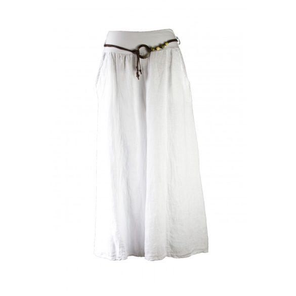 Extra bőszárú len nadrág (fehér) (#19)