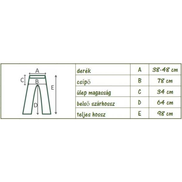 Pasa nadrág - szellős bő nadrág (mintás 3) (#29)