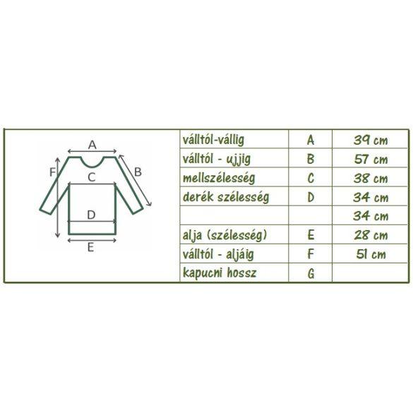 Kámzsás karcsúsított kötött pulóver (#9)