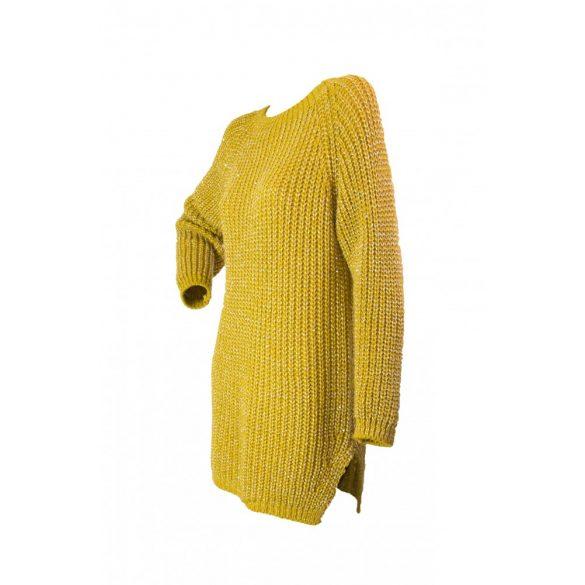 Vastag kötött kereknyakú  karcsúsított pulóver (#7)